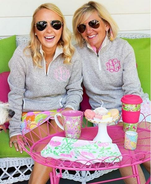 Monogrammed Ladies Charles River Sweater Quarter Zip Pullovers  Apparel & Accessories > Clothing > Shirts & Tops > Sweaters & Cardigans