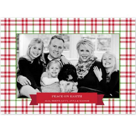 Personalized Miller Check Red & Green Flat Photocard  Office Supplies > General Supplies > Paper Products > Stationery
