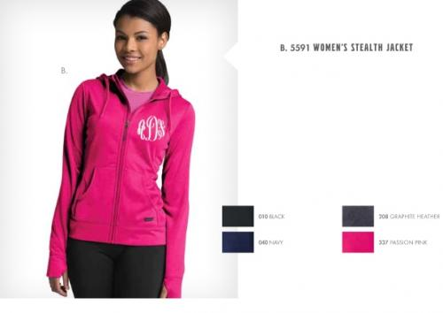 Ladies Stealth Full Zip Jacket   Apparel & Accessories > Clothing > Activewear > Active Jackets