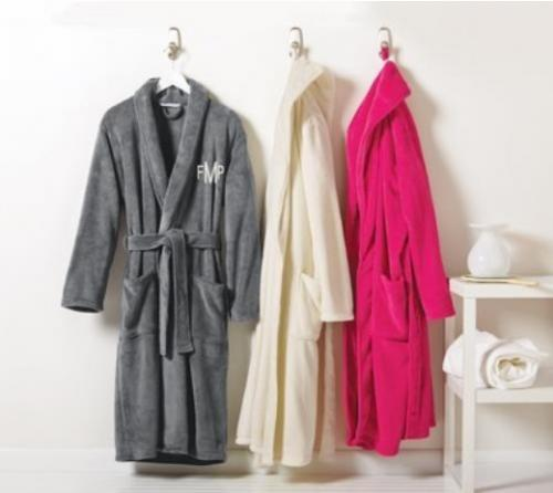 Monogrammed Robe Cozy Microfleece Men and Women  Apparel & Accessories > Clothing > Sleepwear & Loungewear > Robes