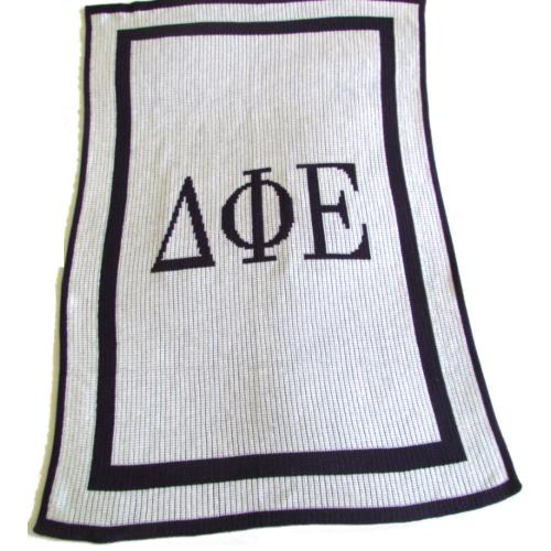 Sorority Customized Knit Blanket by Butterscotch Blankets  Home & Garden > Linens & Bedding > Bedding > Blankets > Throws