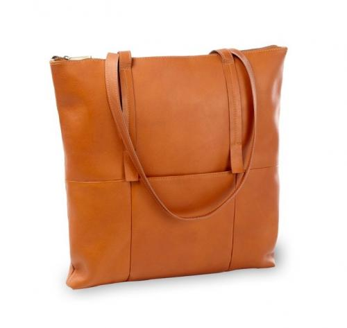 Personalized Vertical Leather Nana Tote  Apparel & Accessories > Handbags > Shoulder Bags