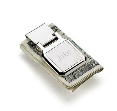 Personalized Mens Money Clip Folding Stainless Steel   Apparel & Accessories > Clothing Accessories > Wallets & Money Clips