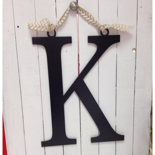 "Single Initial Block Metal Monogram 20""  Home & Garden > Decor > Plaques"