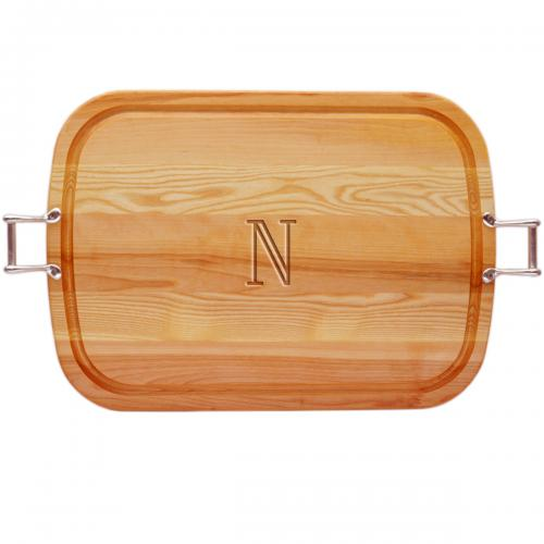 Personalized Wooden Large Serving Tray with Handles  Home & Garden > Kitchen & Dining > Tableware > Serveware > Serving Trays