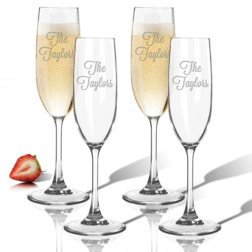 Personalized Champagne Flutes  Home & Garden > Kitchen & Dining > Tableware > Drinkware > Stemware > Champagne Glasses