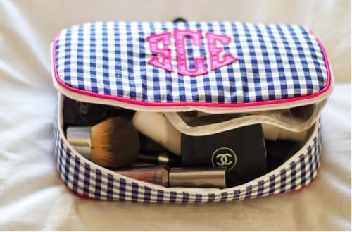 Monogrammed Makeup Case with Handle By Talley Ho Designs   Luggage & Bags > Toiletry Bags