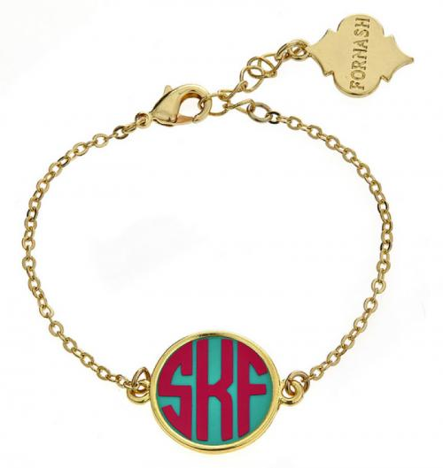 Monogrammed Chain Bracelet for Stacking   Apparel & Accessories > Jewelry > Bracelets