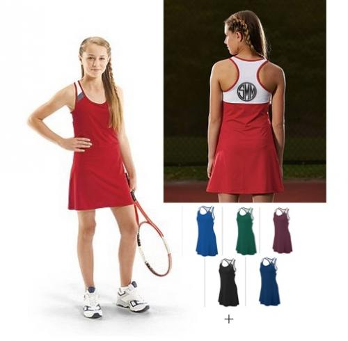 Monogrammed Ladies Tennis Dress  Apparel & Accessories > Clothing > Activewear > Active Dresses