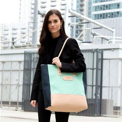Jon Hart Designs Monogrammed Highland Park Tote   Apparel & Accessories > Handbags > Tote Handbags