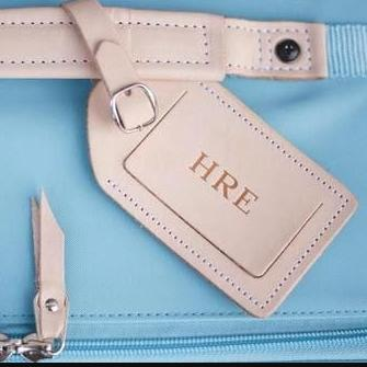 Jon Hart Personalized Leather Luggage Tag  Luggage & Bags > Luggage Accessories > Luggage Tags