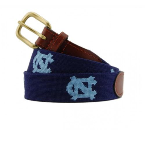 Smathers and Branson North Carolina Navy Needlepoint Belt  Apparel & Accessories > Clothing Accessories > Bridal Accessories