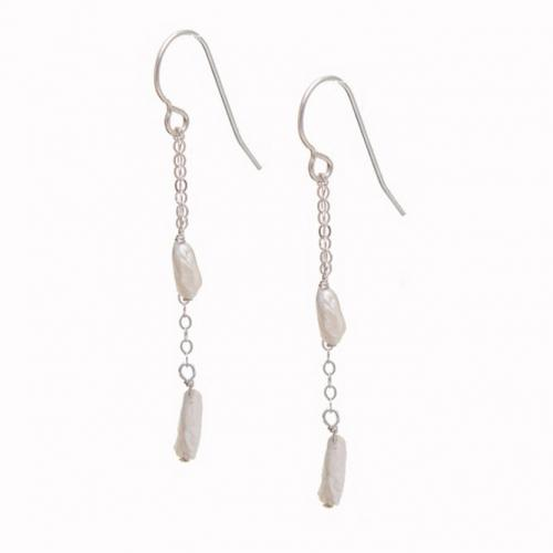 Careen Feather Pearl Earrings - American Pearls from Tennessee Careen Feather Pearl Earrings Apparel & Accessories > Jewelry > Earrings