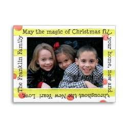 Holiday Photo Card Christmas Bubblegum Stripe