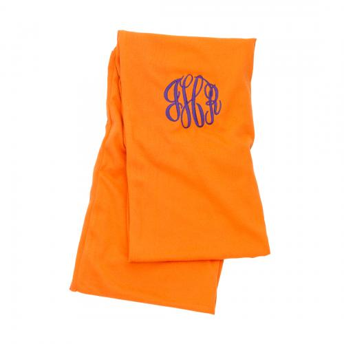 Monogrammed Orange Infinity Scarf  Apparel & Accessories > Clothing Accessories > Scarves & Shawls