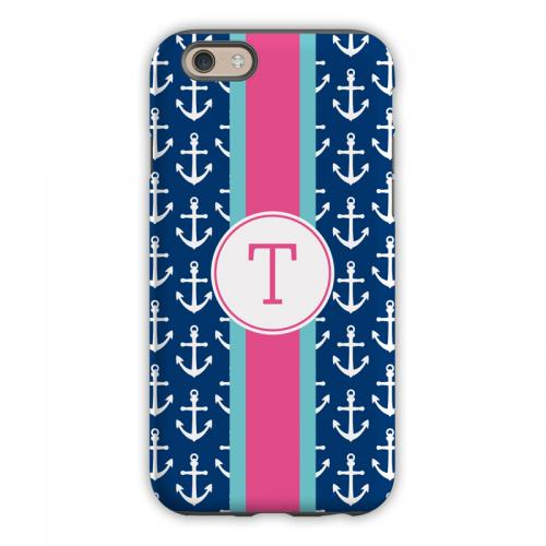 Personalized iPhone Case Anchors Ribbon   Electronics > Communications > Telephony > Mobile Phone Accessories > Mobile Phone Cases