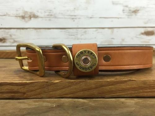 Personalized Leather Finest in the Field London Tan Collar  Animals & Pet Supplies > Pet Supplies > Dog Supplies > Dog Collars & Harnesses
