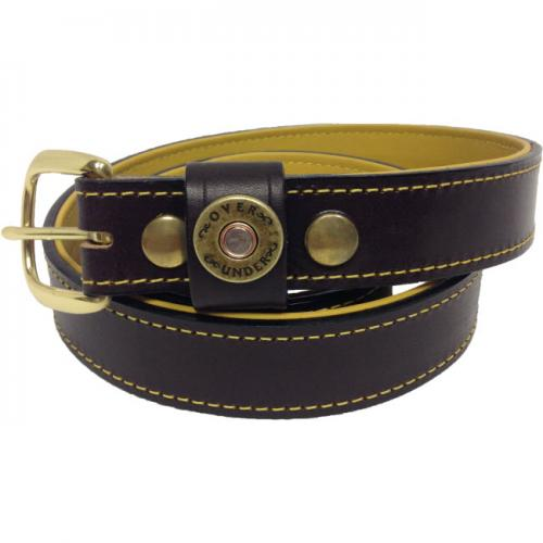 Personalized Men's Over Under Deerskin Lined Belt  Apparel & Accessories > Clothing Accessories > Belts