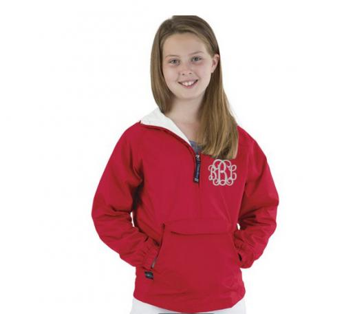 Monogrammed Youth Pullover  Lined Rain Jacket  Apparel & Accessories > Clothing > Baby & Toddler Clothing > Baby & Toddler Outerwear