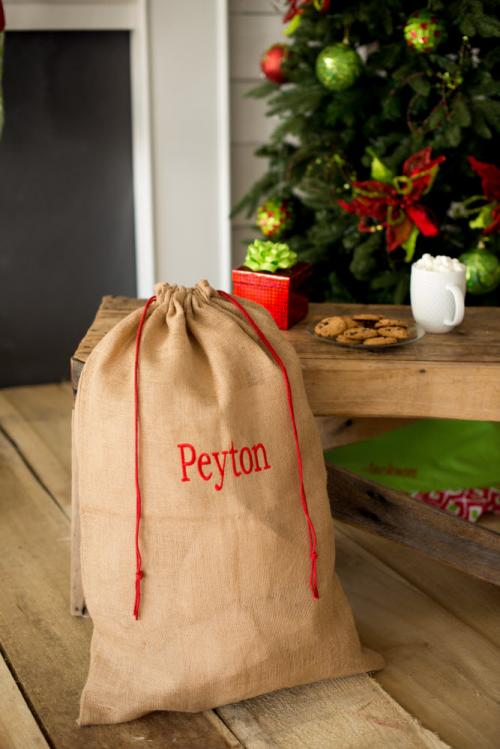 Personalized Burlap Santa Sack   Luggage & Bags