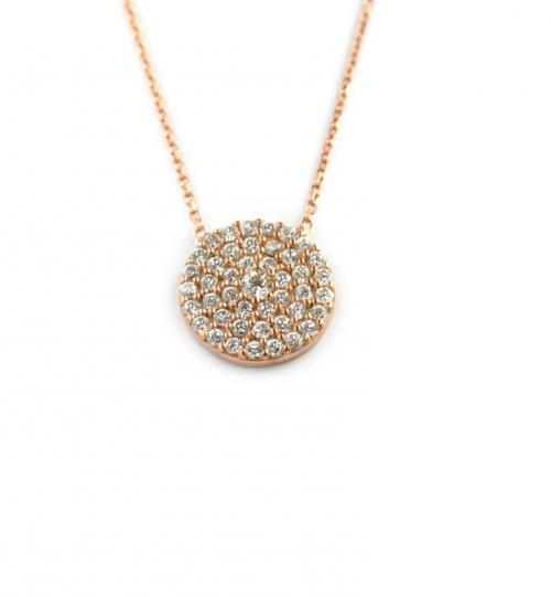 Round CZ Necklace  Apparel & Accessories > Jewelry > Necklaces