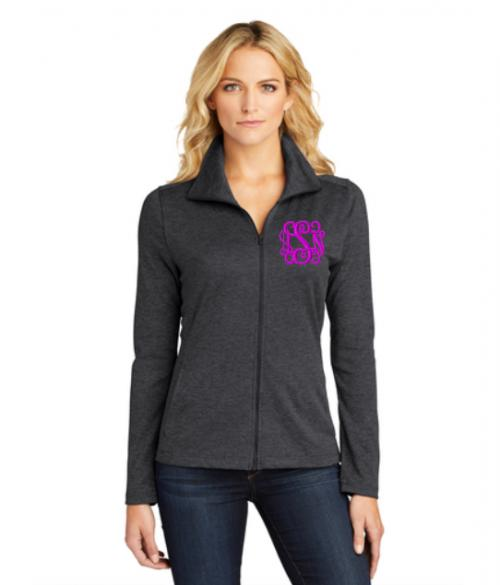 Monogrammed Ladies Full Zip Workout Jacket   Apparel & Accessories > Clothing > Activewear > Active Jackets