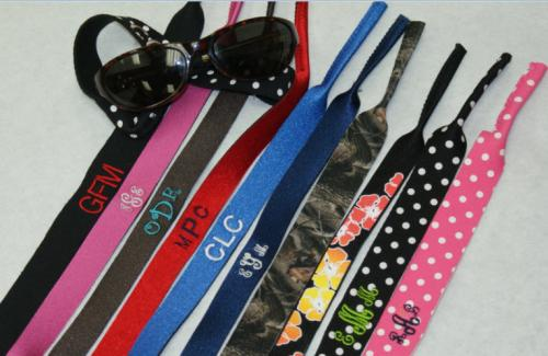 Monogrammed Croakies - Sunglass Holders  NULL