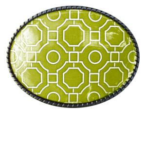 Loopty Loo Garden Maze in Citron Belt Buckle  Garden Maze in Citron Belt Buckle  Apparel & Accessories > Clothing Accessories > Belt Buckles