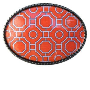 Loopty Loo Garden Maze in Orange Belt Buckle  Garden Maze in Orange Belt Buckle  Apparel & Accessories > Clothing Accessories > Belt Buckles