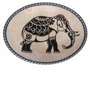 Loopty Loo Mehndi Elephant Belt Buckle  Mehndi Elephant Belt Buckle  Apparel & Accessories > Clothing Accessories > Belt Buckles