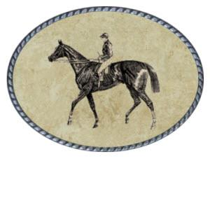 Loopty Loo Rider Belt Buckle  Rider Belt Buckle  Apparel & Accessories > Clothing Accessories > Belt Buckles