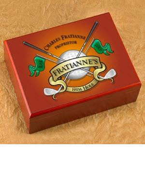 Personalized Golf Cigar Humidor  Personalized Cigar Humidor Golf  Arts & Entertainment > Party & Celebration > Gift Giving