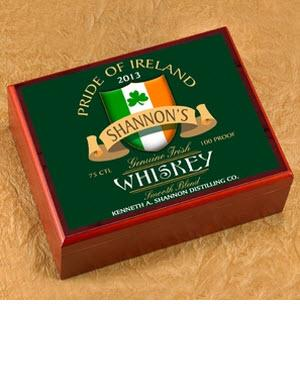 Personalized Irish Whiskey Cigar Humidor  Personalized Cigar Humidor Irish Whiskey  Arts & Entertainment > Party & Celebration > Gift Giving