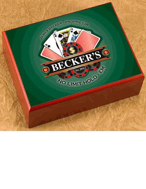 Personalized Poker Cigar Humidor  Personalized Cigar Humidor Poker  Home & Garden > Smoking Accessories