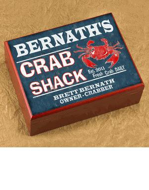 Personalized Cigar Humidor Crab Shack  Personalized Cigar Humidor Crab Shack   Arts & Entertainment > Party & Celebration > Gift Giving