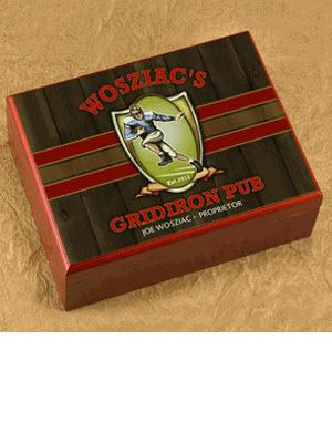 Personalized Cigar Humidor Gridiron Pub  Personalized Cigar Humidor Gridiron Pub Arts & Entertainment > Party & Celebration > Gift Giving
