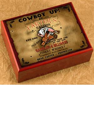 Personalized Saloon Cigar Humidor  Personalized Cigar Humidor Saloon   Arts & Entertainment > Party & Celebration > Gift Giving