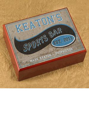 Personalized Cigar Humidor Sports Bar Personalized Cigar Humidor Sports Bar  Arts & Entertainment > Party & Celebration > Gift Giving