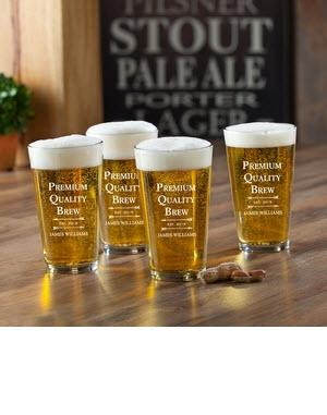 Personalized Glass Set Premium Brew Pub   Home & Garden > Kitchen & Dining > Tableware > Drinkware > Pint Glasses
