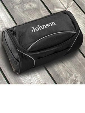 Monogrammed Travel Bag Black Clever Canvas   Luggage & Bags > Toiletry Bags