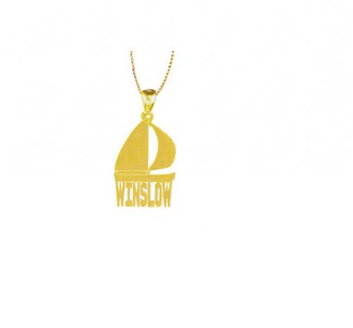 Personalized Sailing Boat Necklace   Apparel & Accessories > Jewelry > Necklaces