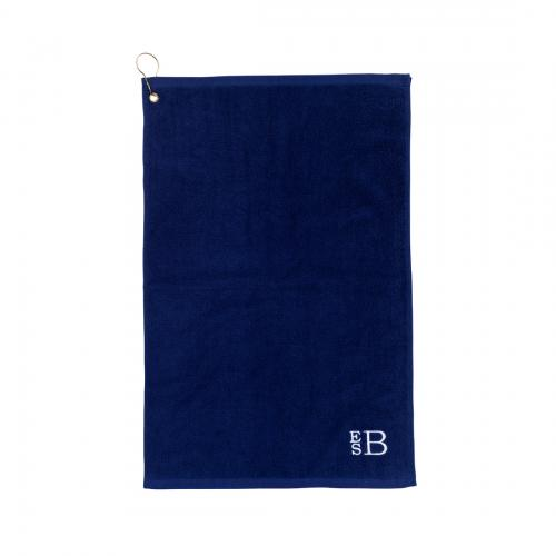 Personalized Navy Golf Towel  Sporting Goods > Outdoor Recreation > Golf > Golf Towels