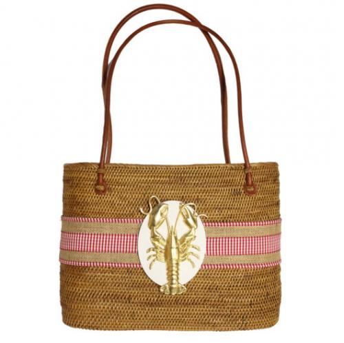 LOB Check Ribbon with Lobster LOB Check Ribbon with Lobster Apparel & Accessories > Handbags > Shoulder Bags