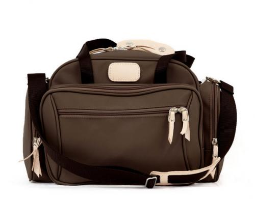 Jon Hart Monogrammed Canvas with Leather Trim Boarding Case   Luggage & Bags > Suitcases > Carry-On Luggage