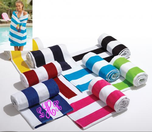 Monogrammed Beach Towels Perfect Graduation Gift  Home & Garden > Linens & Bedding > Towels > Beach Towels