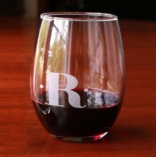 Personalized Red Wine Stemless Glasses Set of Four  Home & Garden > Kitchen & Dining > Tableware > Drinkware > Stemware > Wine Glasses