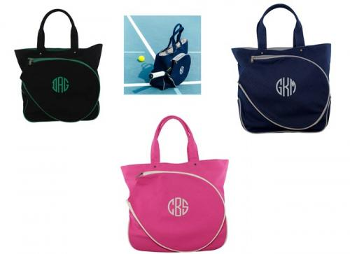 Monogrammed Tennis Racquet Cover   Sporting Goods > Racquet Sports > Tennis > Tennis Racket Accessories > Tennis Racket Bags