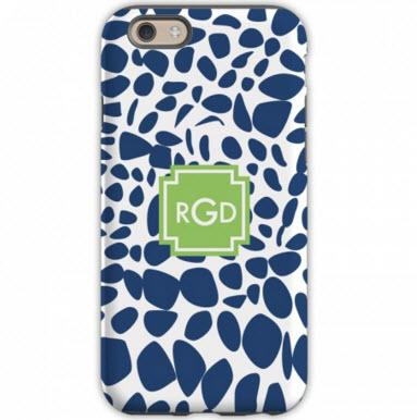 Monogrammed iPhone Case Lizard Navy  Electronics > Communications > Telephony > Mobile Phone Accessories > Mobile Phone Cases