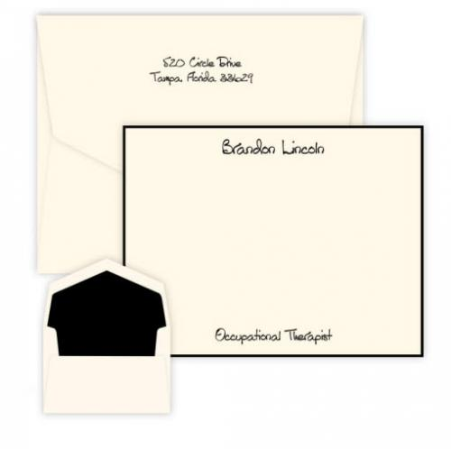 Embossed Graphics Personalized Highland Card with Raised Ink  Office Supplies > General Supplies > Paper Products > Stationery