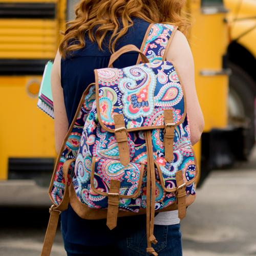 Monogrammed Emerson Paisley Campus Backpack   Luggage & Bags > Backpacks